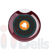 Мини - кнопка вызова персонала круглая бордовая ITBells-305