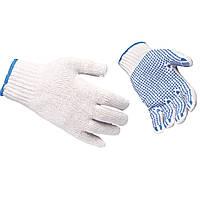 Перчатки трикотажные A111 с ПВХ точкой, 7 нитей