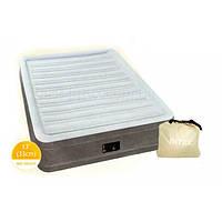 Надувная односпальная кровать Intex 67766 (99-191-33 см.) + встроенный электронасос 220W