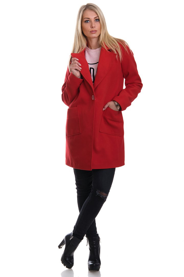Пальто демисезонное с карманами,ткань эко кашемир.