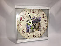 Часы в стиле прованс деревянные skp 72