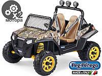 Детский электро джип Peg-Perego Quad ATV RZR 900 Camouflage12V свет Италия