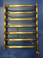 Классический полотенцесушитель состаренная бронза с ТЭНом Ольха 7 500*700