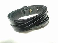 """Шкіряний браслет """"Twist"""" кожаный браслет на лыпучке, під замовлення, різних кольорів, фото 1"""