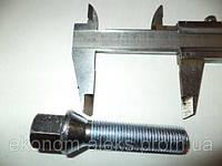 Болт M14X1,50X50 Цинк Конус с выступом ключ 17 мм Болт C17D50 Z M14X1,50X50 Цинк Конус с