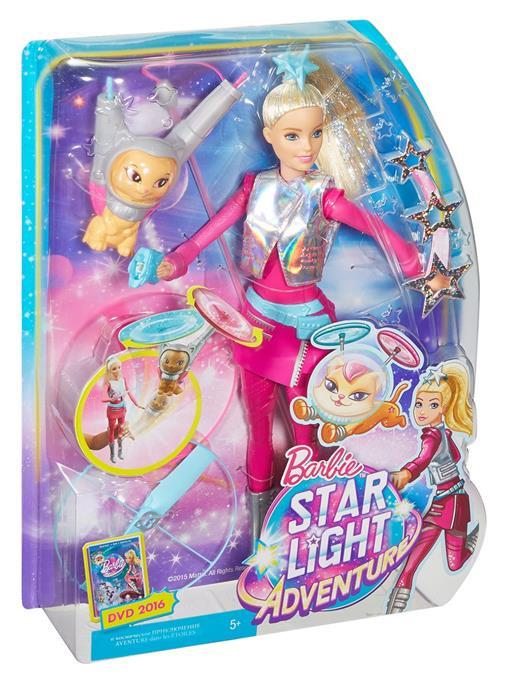 Кукла Mattel Barbie и космический котик Звездные приключения (Star Light Adventure)