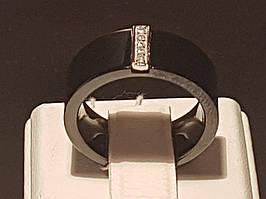Серебряное кольцо с керамикой и фианитами. Артикул К2ФК/1015-Д(З)