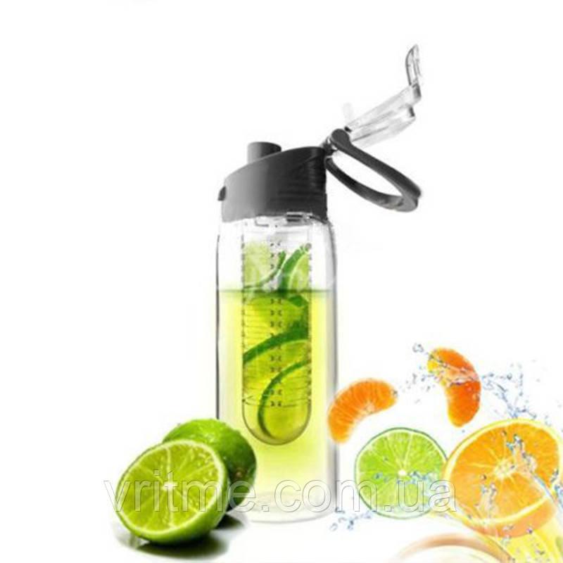 Бутылка для фрешей, морсов, лимонадов, воды -  Fruit bottle (Фрут ботл) 700 мл.!