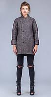 Пальто молодежное коричневый меланж