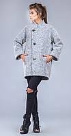 Пальто молодежное серое