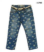 Джинсы Zara с ремешком для девочки. 110 см, фото 1