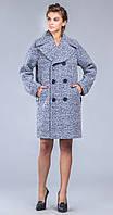 Серое пальто оверсайз с отложным воротником