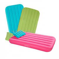 Intex 66801 (88 Х 157 Х 18 см.) Надувной матрас с подушкой для детей