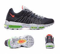 Мужские кроссовки Nike air max Jacquard black-grey 95