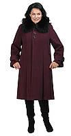 Пальто расклешенное фиолетовое