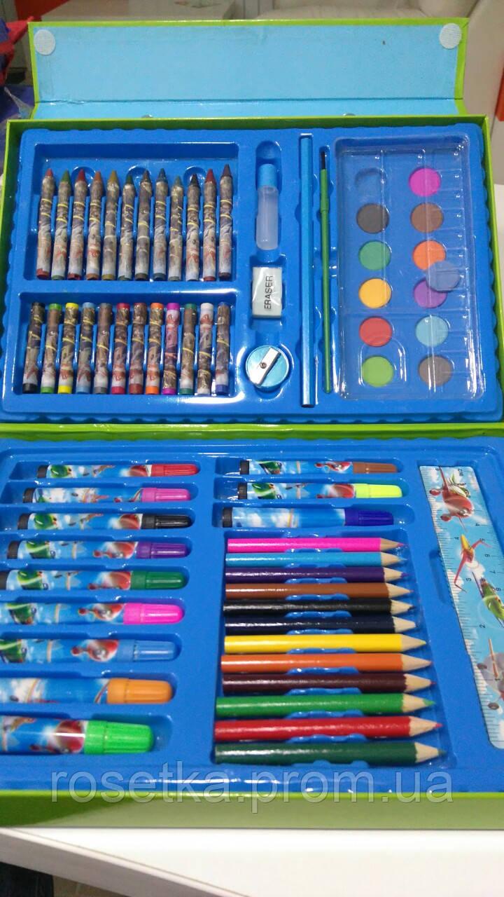 Дитячий набір для малювання Art Set 68 предметів в кейсі (Літачки)