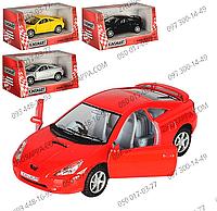 Машинка KT 5038 W Toyota Celica, Kinsmart, инерция, металл, 1:34, 12,5 см, открываются двери, колеса резина