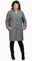 Пальто-кардиган серый меланж