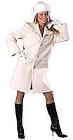 Пальто прямое на пуговицах белое