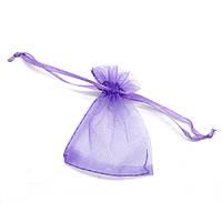 Подарочный мешочек из органзы 8 см х 7 см сиреневый