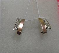 Серьги серебро и золото Тая, фото 1