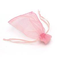 Подарочный мешочек из органзы 8 см х 7 см розовый