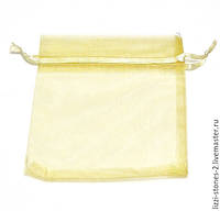 Подарочный мешочек из органзы 8 см х 7 см желтый