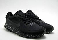 Кроссовки мужские Nike air max Space edition black. Найк аир космос черные максы