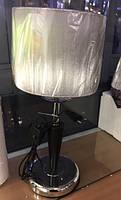 Декоративная настольная лампа SELENA-T серебренная