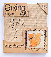 Стринг арт набор из ниток и гвоздей Белка