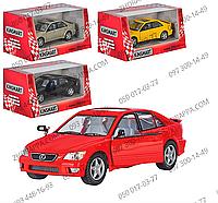 Машинка KT 5046 W LEXUS IS300, Kinsmart, металл, инерция, 1:36, 12 см, двери открываются, 4 цвета