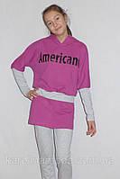 "Костюм для девочки ""AMERICANO"".(малина), фото 1"
