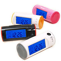 Часы с проектором CW 8097, проекционные часы-будильник, настольные часы с лазерной проекцией