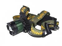 Фонарик POLICE BL 2189 T6, Налобный тактический фонарик, светодиодный фонарик, мощный фонарик на голову