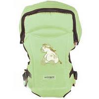 Анатомический рюкзак-кенгуру №15 Womar™ Эксклюзив / салатовый