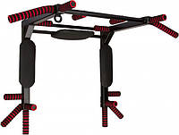 Настенный многофункциональный турник stROnG 9 в 1 Premium Black (STR-MTW-91PBK)