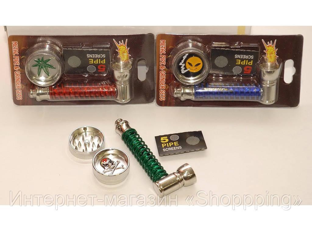 Набор трубка, гриндер, сеточки, Трубка для курения, Сетки для бонгов и трубок для курения, Курительная трубка - Интернет-магазин «Shoppping» в Днепре