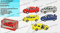 Машинка KT 5052 W Mitsubishi Lancer Evolution VII, металл, инерция, 1:36, 4 цвета, 13 см, в коробке