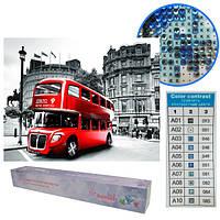 "Картина бриллиант ""Лондонский автобус"", рулон, 20x30"