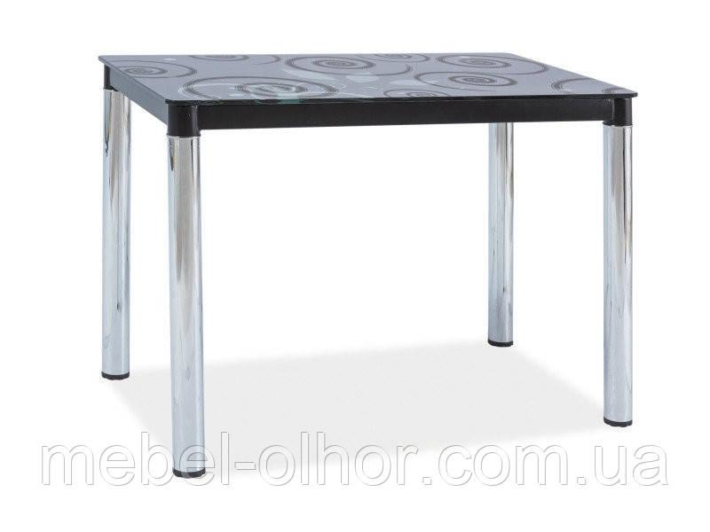 Стеклянный стол Damar хром