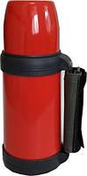 Термос Con Brio 1 л. красный, ручка. CB-330