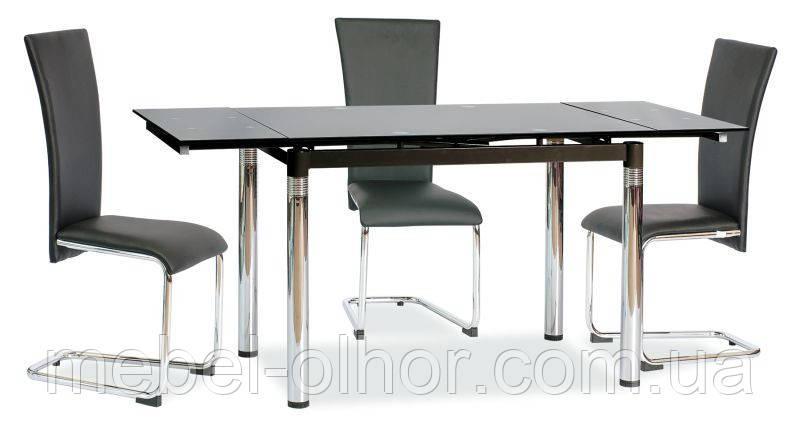 Стеклянный стол -18, розкладной