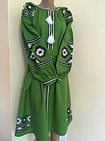 Вишита сукня на домотканому полотні в етно стилі