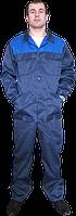 Костюм рабочий комбинезон+куртка с голубой кокеткой