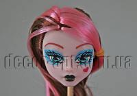 Голова куклы Монстер Хай с коричнево-розовыми волосами 15,0 см
