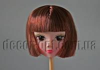 Голова куклы с макияжем и коричневыми волосами 5,0 см арт.02
