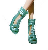Босоножки бирюзовые с рюшками, обувь для куклы Барби, шарнирной куклы