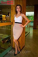 Платье Victoria Beckham волан + белое плиссе