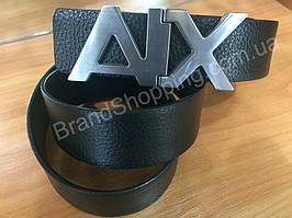 Двусторонний кожаный ремень Armani Exchange ширина 3см черный 0721