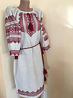 Сукня вишита ручної роботи в етно стилі з мережкою